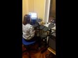 Видео с урока по игре на ударной установке!