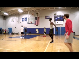 In workouts, mo bamba is knocking down threes like it's easy! he is going to be a dangerous player in the nba