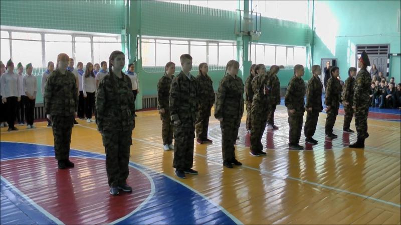Строевой смотр к 9 мая 2017г. 8а класс школа№3 г. Нягань