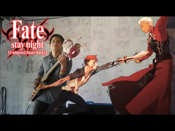 Fate Stay Night : Unlimited Blade Works S2 Insert Song EP 8 Last Stardust by Aimer Guitar Cover