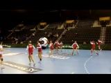 Женская сборная России на разминке перед матчем чемпионата мира с Бразилией
