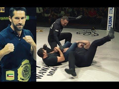 Скотт Эдкинс в Клетке MMA Подрался с Громилой