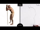 Proko Figure drawing fundamentals - 01 Gesture - Gesture Quicksketch - 30 Second Pose (8)