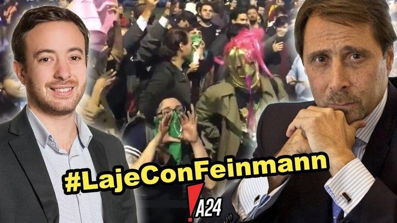 Agustin Laje Con Feinmann desenmascaran la violencia feminista! LajeConFeinmann