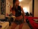 asian schoolgirl dancing sexy in her mini skirt