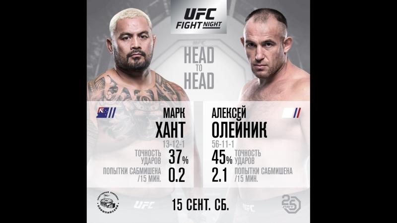 Статистика Главного Поединка UFC Moscow