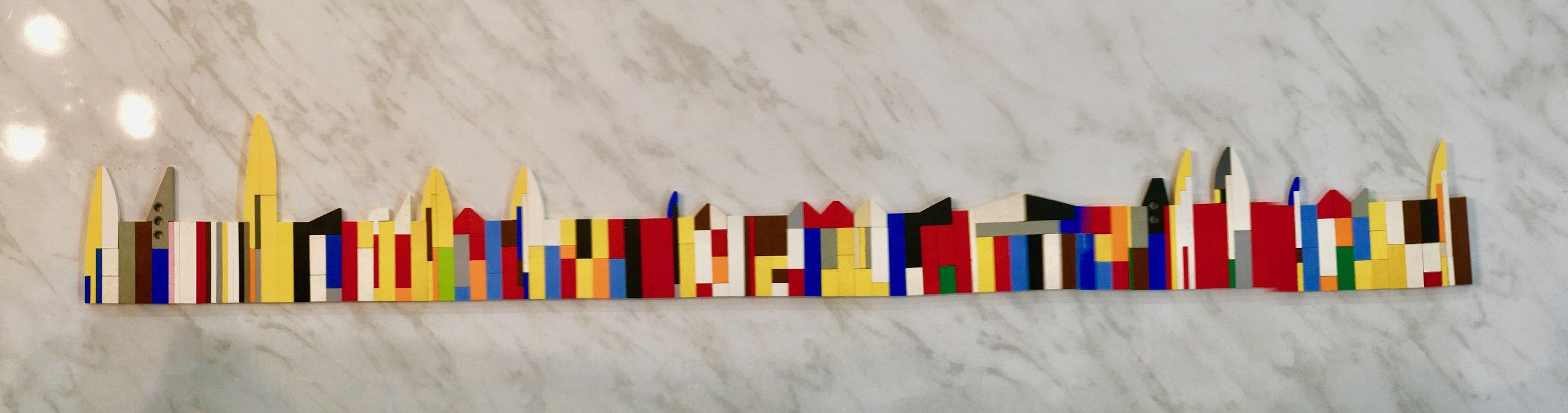 Город из Лего - длинный в один ряд