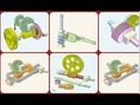 Червячные механизмы - анимации