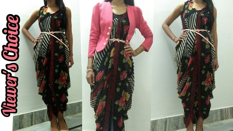5 Minutes DIY : Convert Saree into Party Wear Dress/1 Saree And 2 Dresses/No Cutting/No Sewing