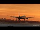 Аэрофлот Арбуз 330 посадка закат Шереметьево Airbus A330 Aeroflot Airlines nice