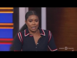 Gabrielle Union au Daily Show de Trevor Noah le 2 novembre 2017