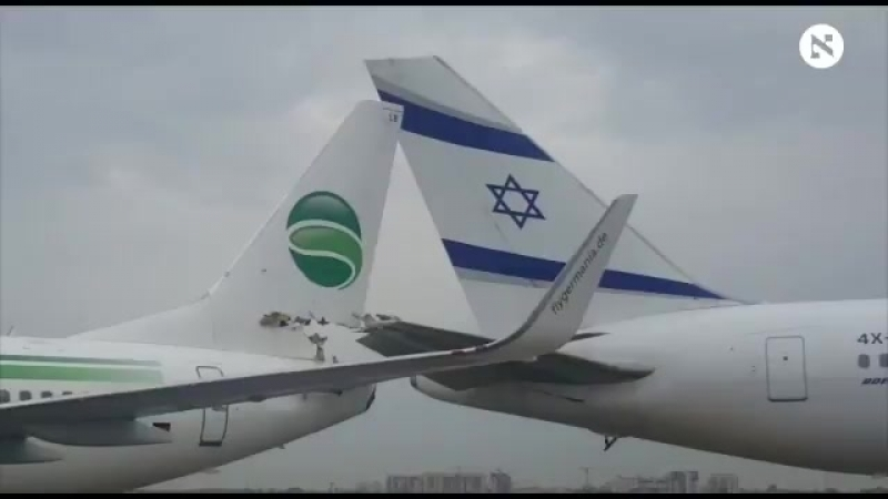 Germania ST4915 to Berlin Boeing 737 collided with El Al LY385 to Rome Boeing 767 on the ramp in Tel Aviv during push back