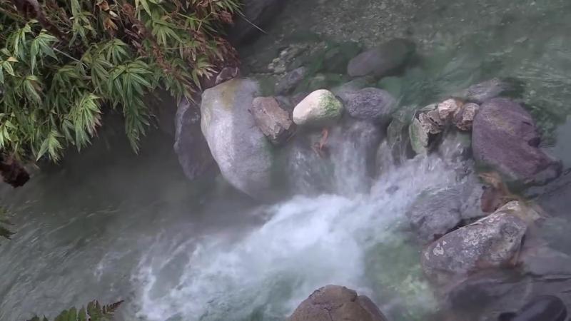 Река Кипящая, приток р. Серной влк. Баранского, о. Итуруп, Курилы