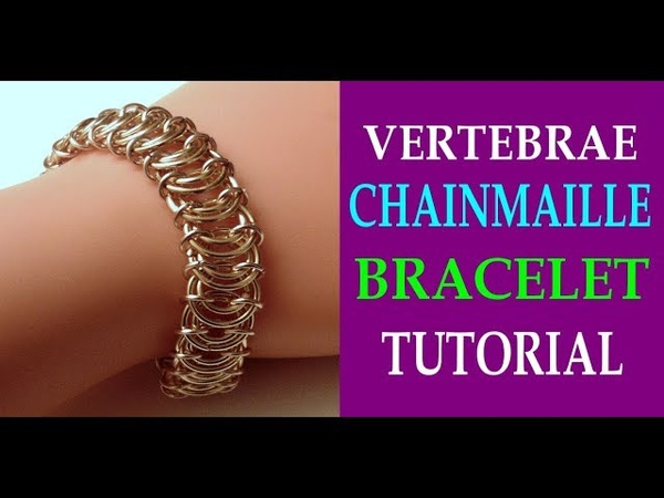 VERTEBRAE CHAINMAILLE BRACELET TUTORIAL POOR KING'S SCALE WEAVE