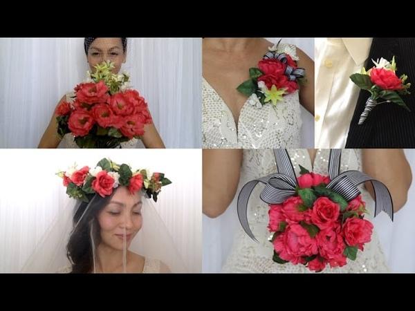 DIY Flower Bouquet, Pomander, Corsage, Boutonniere, Flower Crown