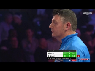 Justin Pipe vs Bernie Smith (PDC World Darts Championship 2018 / Round 1)