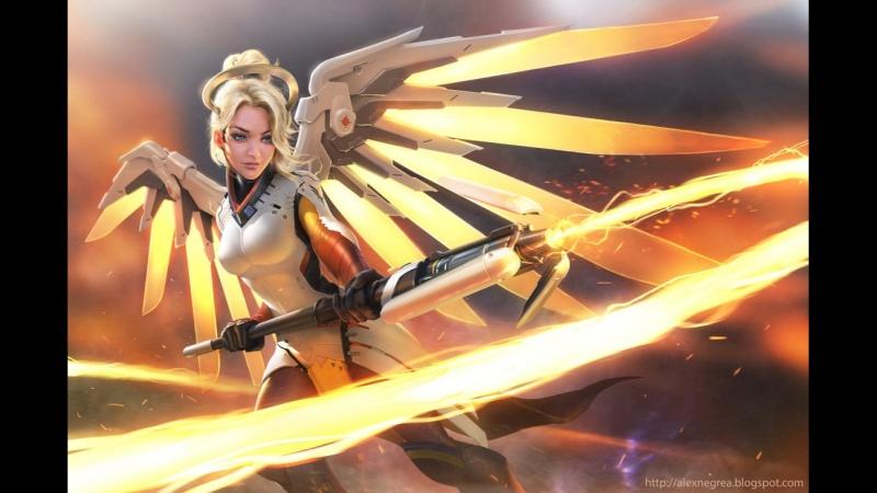 Атакующая Ангела -3 в OverWatch