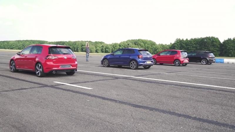 VW Golf GTI vs Polo GTI vs Golf Clubsport S vs Up! GTI