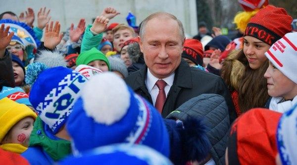 Курские школьники встретились спрезидентом Российской Федерации