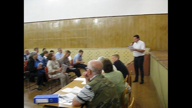 Часть 4 Выступление представителя фермы Роста Общественные слушания по дороге на полигон
