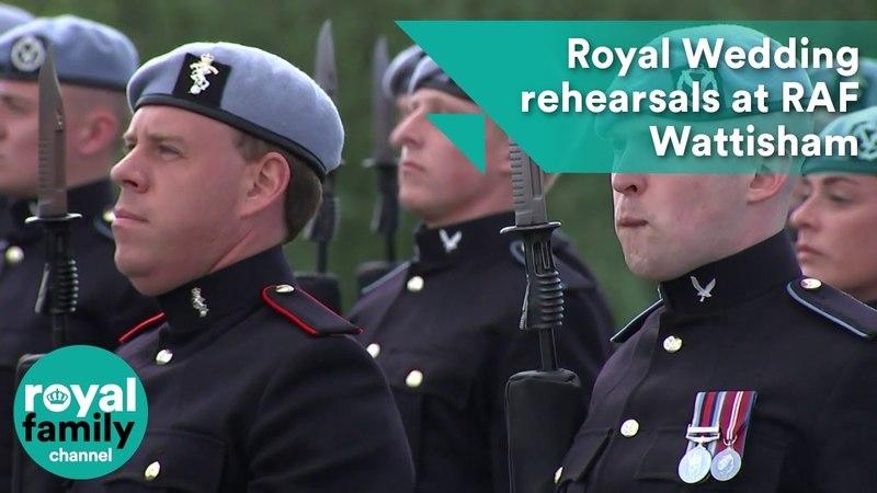 Royal Wedding rehearsals at RAF Wattisham