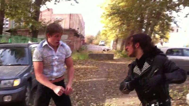 Боксёр против бегуна Уличные драки RU