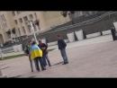 Когда хотел отхватить на камеру пиндюлей в г. Ставрополь нацепив украинский флаг