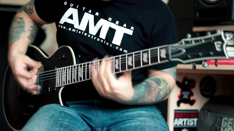 LTD EC-407 - Metal - 7 string guitar - Drop A -- Inside the Flames - Dead Point