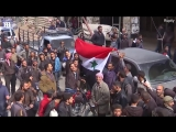 Syrians celebrate liberation of Douma by Syrian Arab Army - Daily Mail