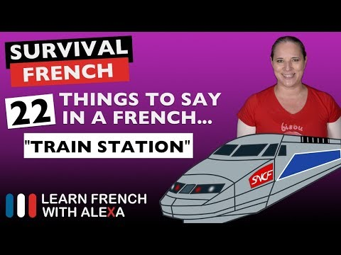 22 TRAIN phrases to help you travel in French
