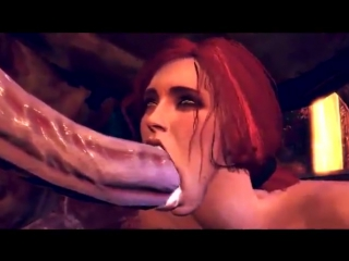 3d porn - triss merigold (the witcher sex with horse/ monster, anal)