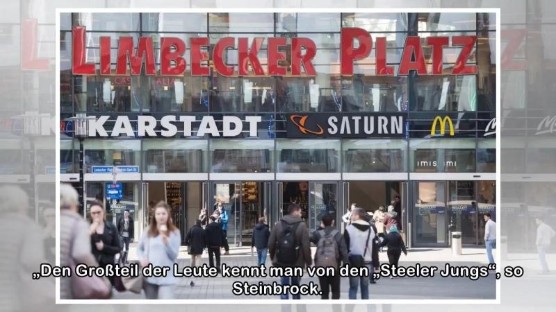 """""""Steeler Jungs""""- Rund 80 Hooligans patrouillieren durch die Fußgängerzone in Essen-Borbeck"""