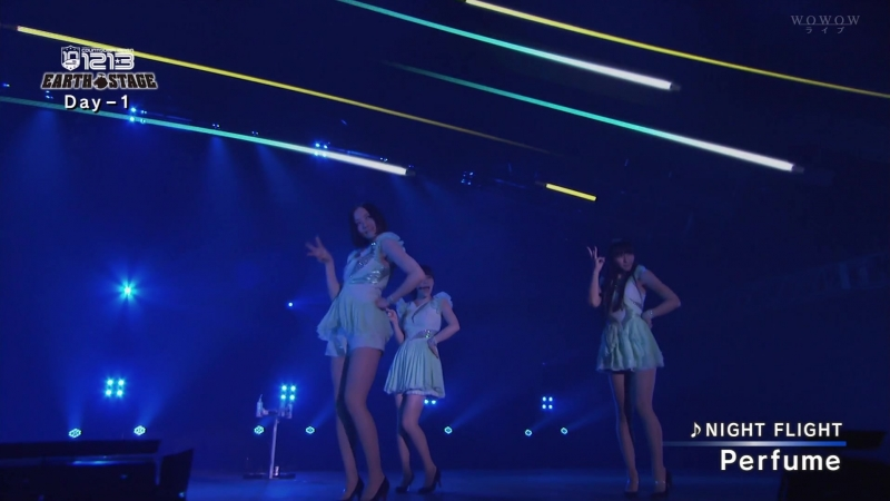 (Live) Perfume - NIGHT FLIGHT (COUNTDOWN JAPAN 1213 DAY-3 WOWOW LIVE 2012.12.30)