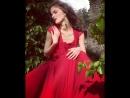 Красное платье Огненный цветок. Фотосессия в заброшенном аббатстве. Бельгия