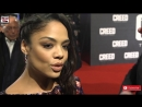 Tessa Thompson Creed European Premiere Interview