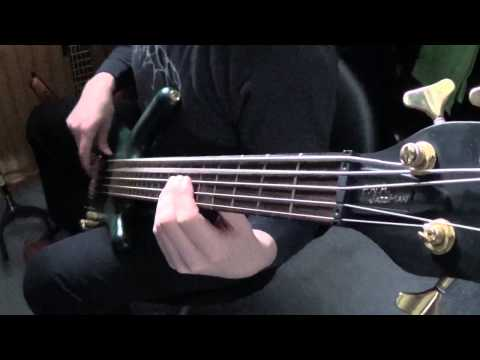 Meshuggah Combustion on bass guitar