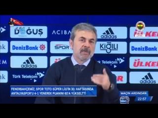 Fenerbahçe 4 - 1 Antalyaspor Aykut Kocaman Basın Toplantısı Şenol Güneş Hakkında Olay Açıklamalar