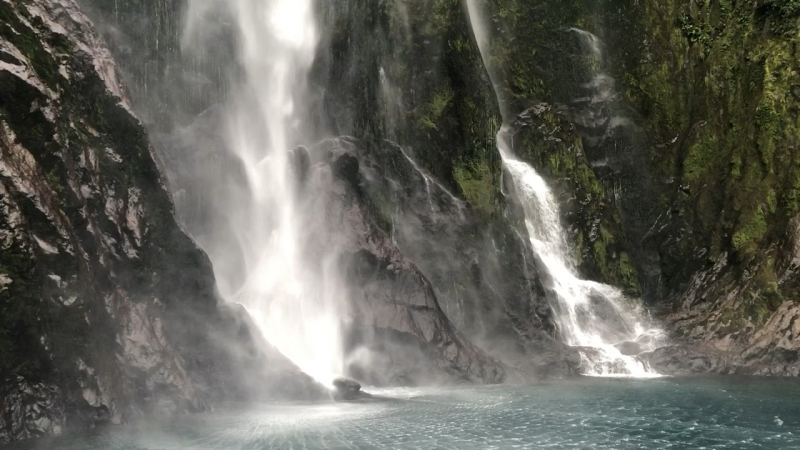 Fiords, Milford Sound, Tasman sea, New Zealand