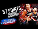 Damian Lillard CJ McCollum 57 Pts WCR1 Game 4 Pelicans vs Blazers - CJ With 38! FreeDawkins