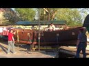 Косинский Морской Клуб, спуск на воду бригантины, часть 2, постановка на тачку.