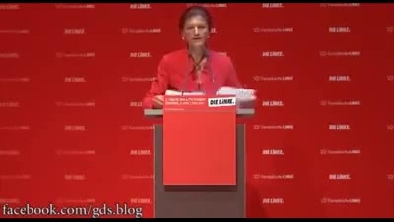 Sahra Wagenknecht ueber Bilderberg
