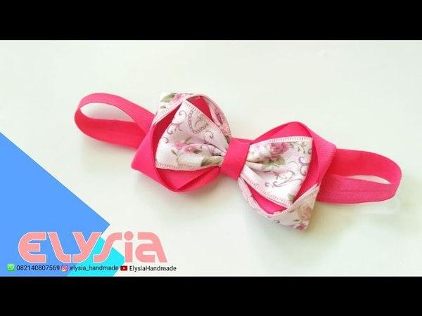 Baby Headband Ideas : Laço Tania Kanzashi Headband 🎀 DIY by Elysia Handmade