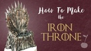 Game of Thrones Iron Throne Cake Topper Tutorial How To Cherry Toppers