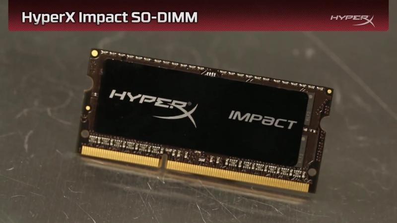 Играй по-новому вместе с памятью SO-DIMM HyperX Impact с функцией автоматического разгона.