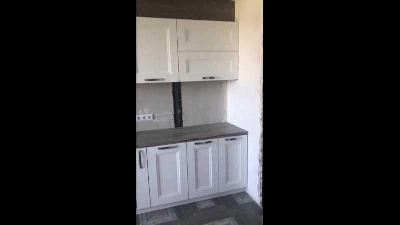НАША РАБОТА. Кухонный гарнитур с котлом . Размеры 4800. Фасады МДФ фирмы Сидак Белла