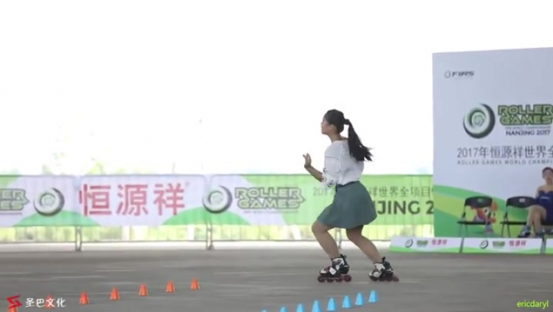 Incredibly skilled Inline Freestyle champion, Feng Hui