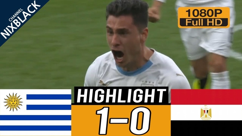 EGT vs URY 0-1 All goals Highlights Commentary (15/06/2018) HD/1080P