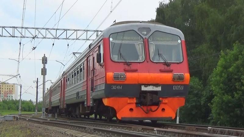 Электропоезд ЭД4М-0059 с рейсом Москва Савёловская - Савёлово