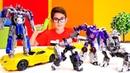 Transformers oyunu. Optimus Prime ve Bumblebee araba yarışı