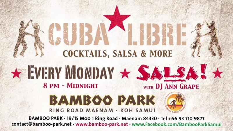 Сальса вечеринка в CUBA LIBRE на Самуи